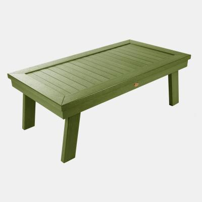 Adirondack Dried Sage Rectangular Plastic Outdoor Coffee Table