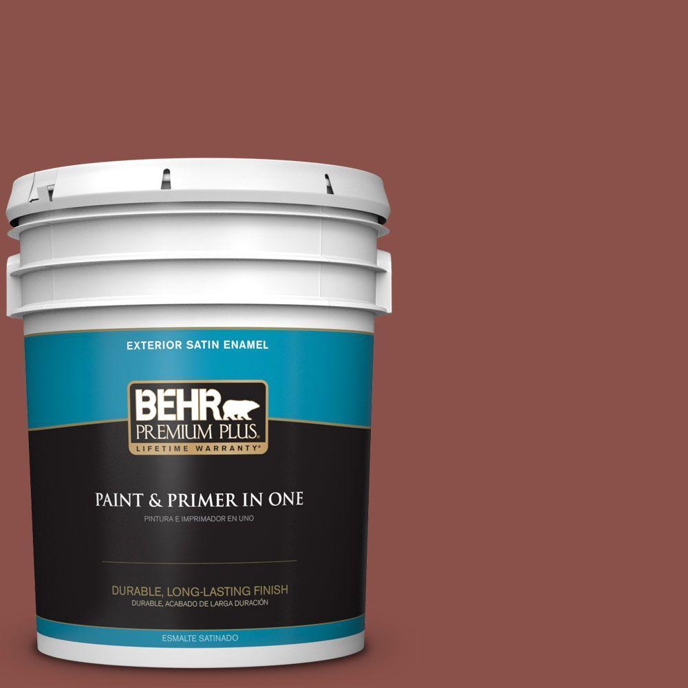 5-gal. #S150-6 Spiced Berry Satin Enamel Exterior Paint