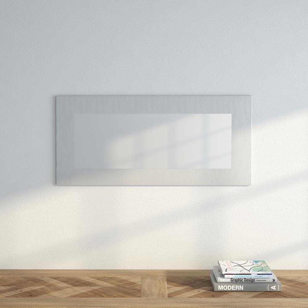 Muro 35-1/2 in. x 16-1/4 in. Modern Framed Mirror