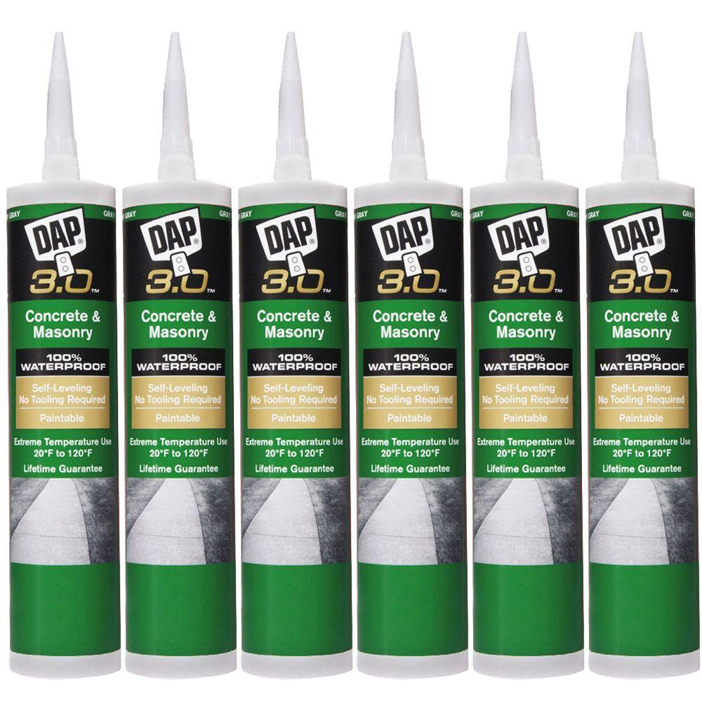 DAP 3.0 Self-Leveling Concrete and Masonry High Performance Sealant, Gray (6-Pack)-DISCONTINUED
