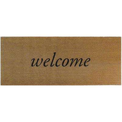 Welcome 60 in. x 24 in. Slip Resistant Coir Door Mat