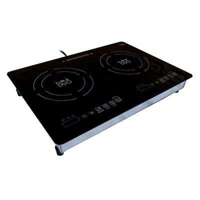 Mini Duo 20.5 in. Glass Induction Cooktop in Black with 2 Induction Elements