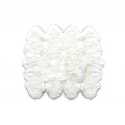 Josephine Natural 8 ft. x 8 ft. Solid Sheepskin Area Rug