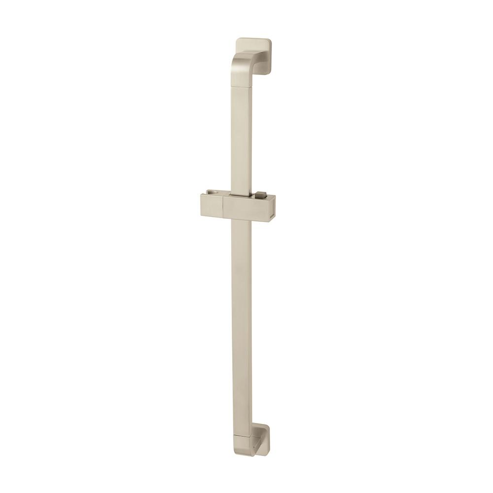 Kubos 24 in. Adjustable Shower Slide Bar in Brushed Nickel