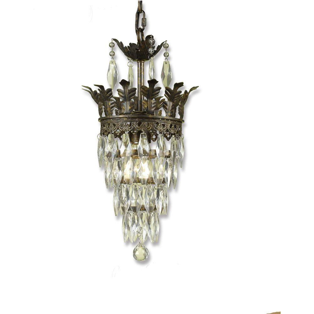 Af Lighting Sovereign 1 Light Gold Mini Chandelier