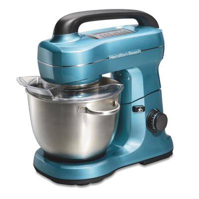 4 Qt. 7-Speed Blue Stand Mixer with with Whisk, Dough Hook, Flat Beater Attachments