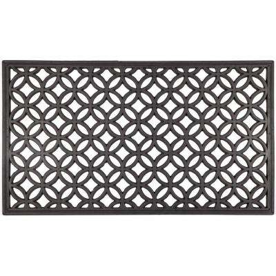 Circle Chains 16 in. x 28 in. Recycled Rubber Door Mat