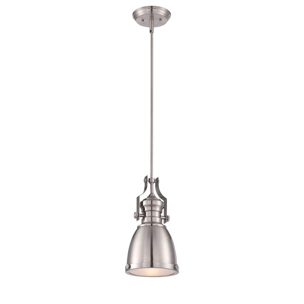 brushed nickel pendant lights lighting the home depot