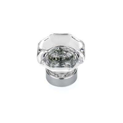 Eclectic 1-5/16 in. (33 mm) Clear Chrome Cabinet Knob