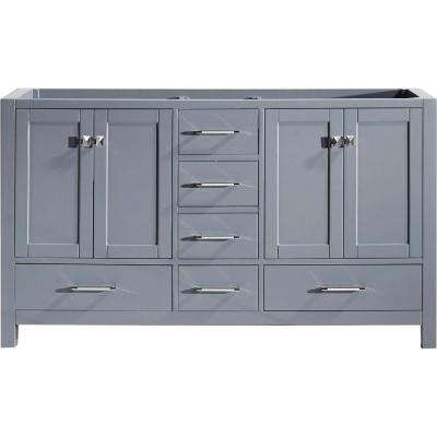 Caroline Avenue 60 in. W Bath Vanity Cabinet Only in Gray