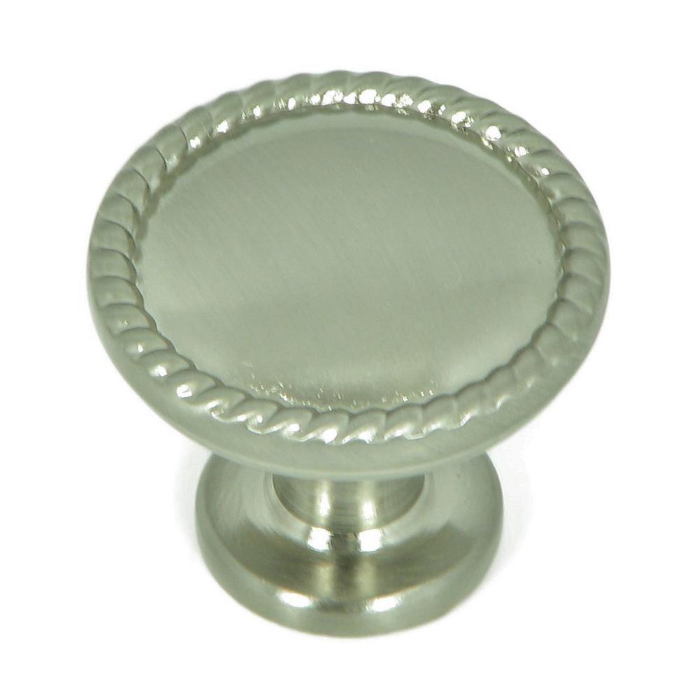 Newport 1-1/4 in. Satin Nickel Round Cabinet Knob (10-Pack)