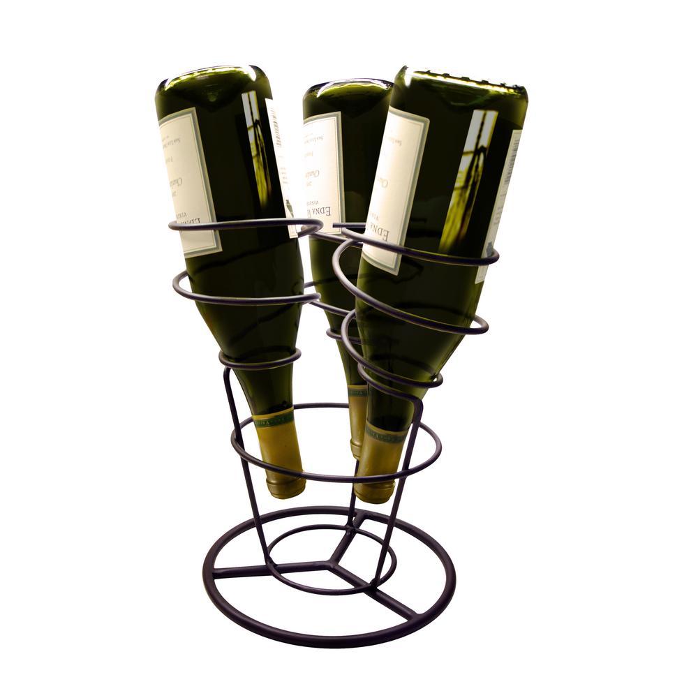Swirl Silver Wine Rack