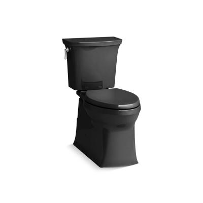 Corbelle Comfort Height Revolution 360° 12 in. Rough-In 2-Piece 1.28 GPF Single Flush Elongated Toilet in Black