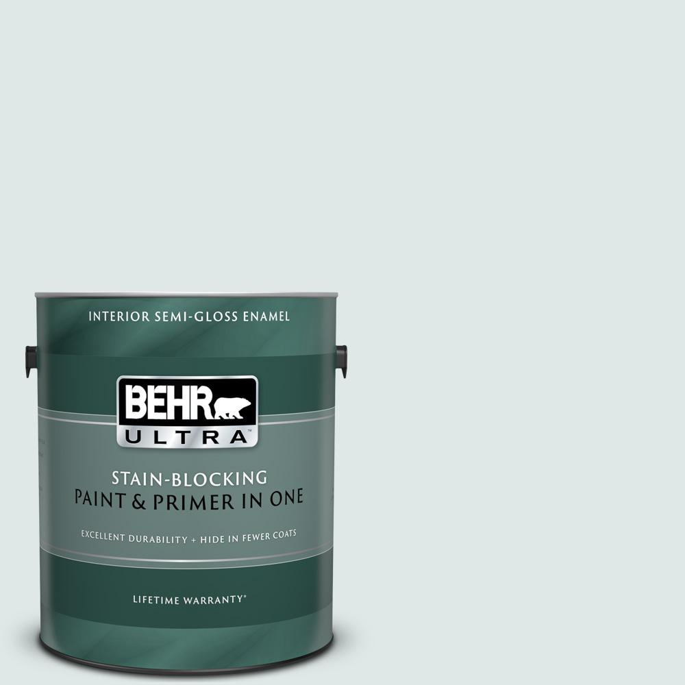 Behr Ultra 1 Gal Ppu13 17 Fresh Day Semi Gloss Enamel Interior Paint And Primer In One 375001 The Home Depot