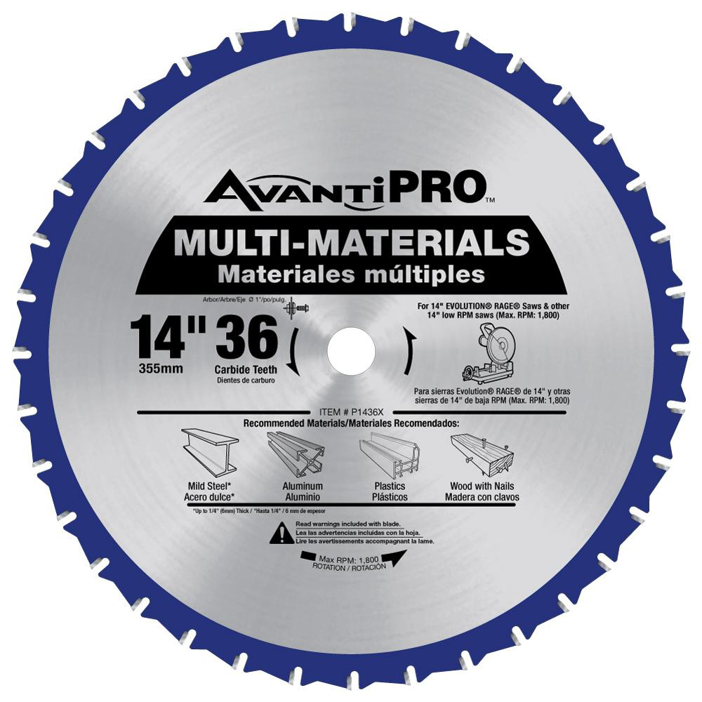14 in. x 36 in. Tooth Multi-Material Saw Blade