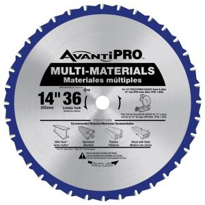 Click here to buy Avanti Pro 14 inch x 36 inch Tooth Multi-Material Saw Blade by Avanti Pro.