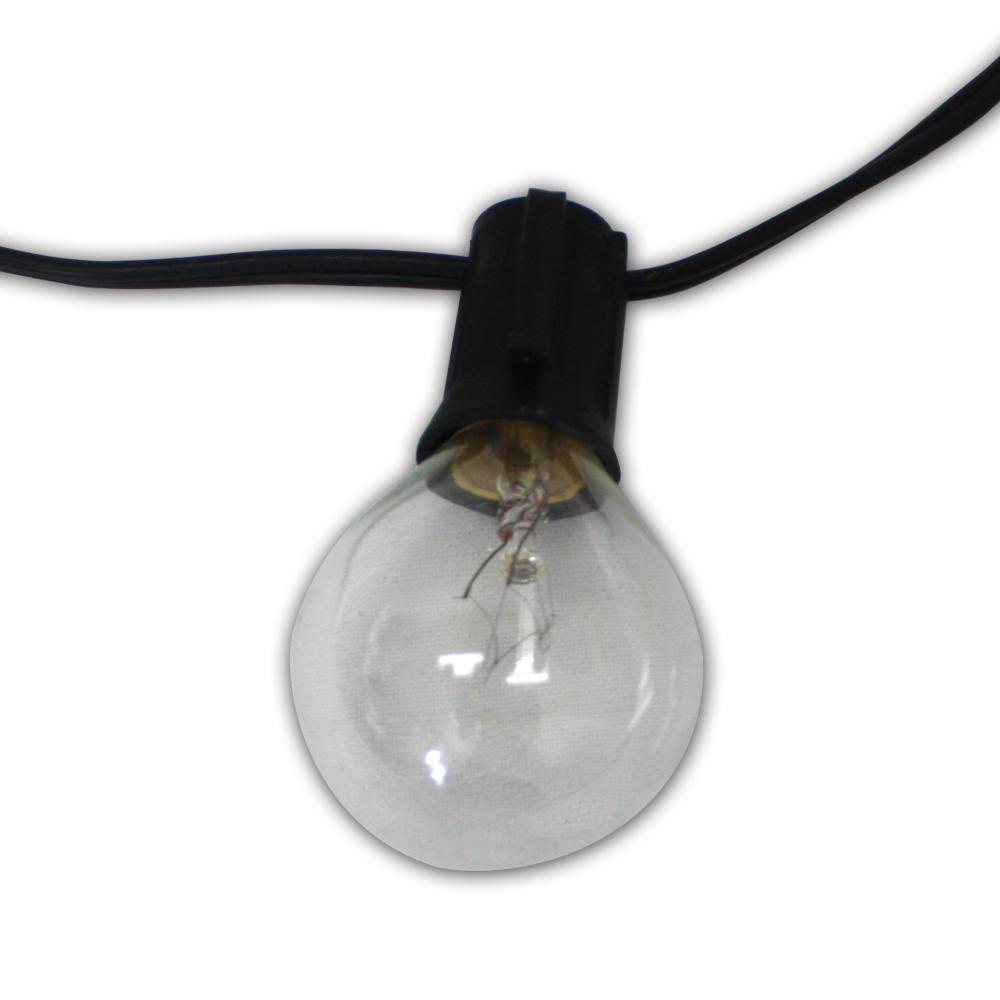 Global 100 ft. 100-Light String Light with Clear Globe Bulbs
