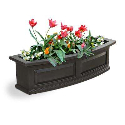 3 ft. Nantucket Black Plastic Window Box