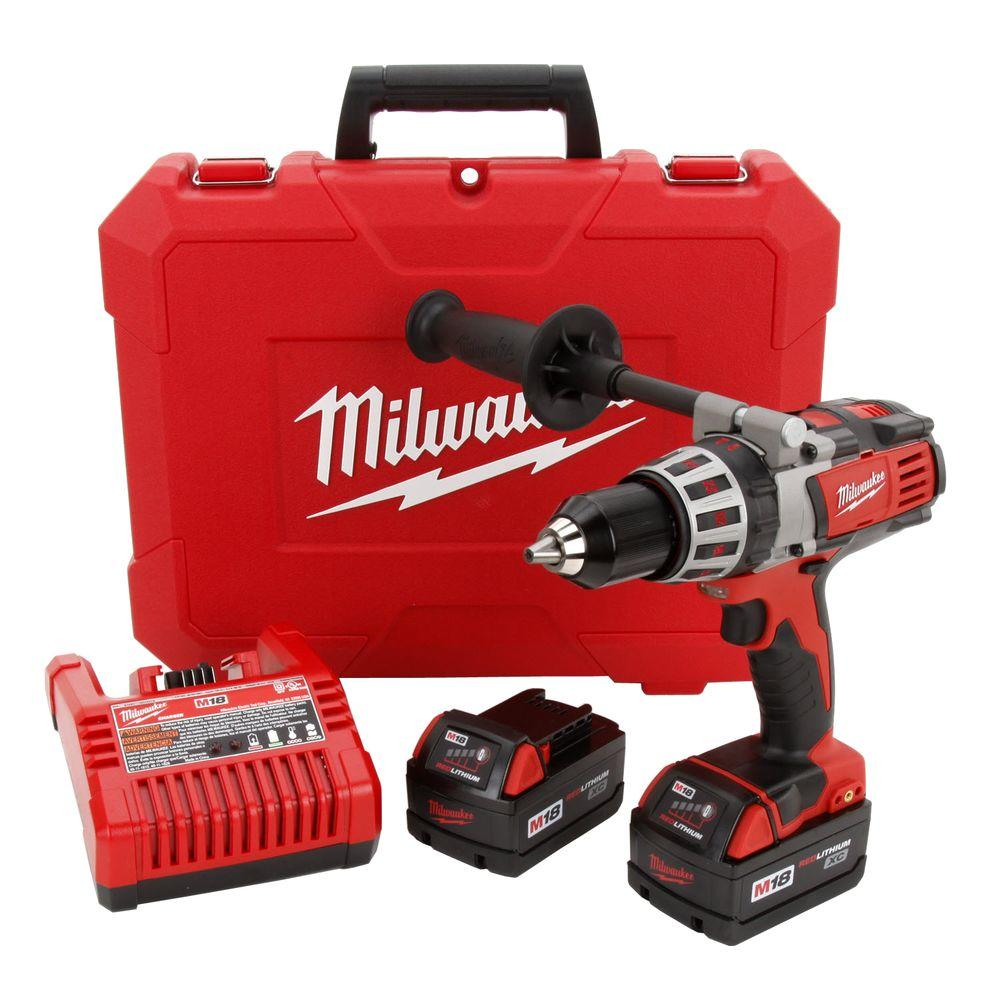 Milwaukee M18 18-Volt Lithium-Ion 1/2 in. Cordless High-Performance Drill/Driver Kit