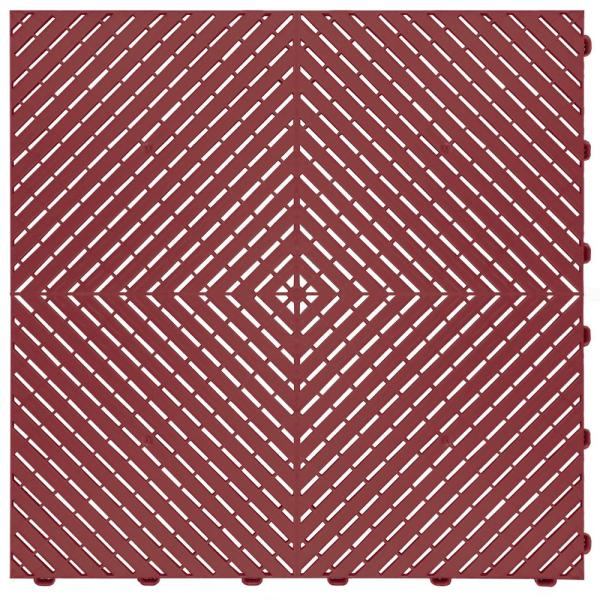 15.75 in. x 15.75 in. Red Ribtrax Smooth ECO Flooring (6-Tile/pack) (10 sq. ft.)