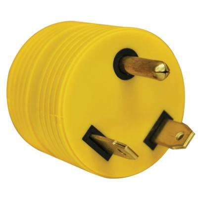 30 Amp Male to 15 Amp Female Round Adapter Plug