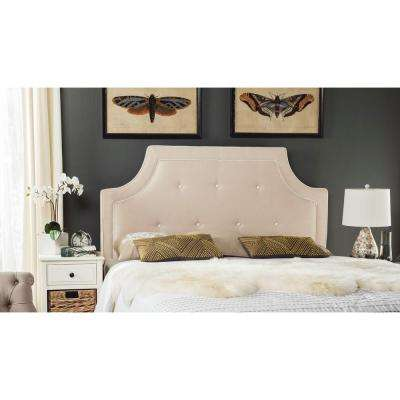 Tallulah Beige and White Queen Headboard