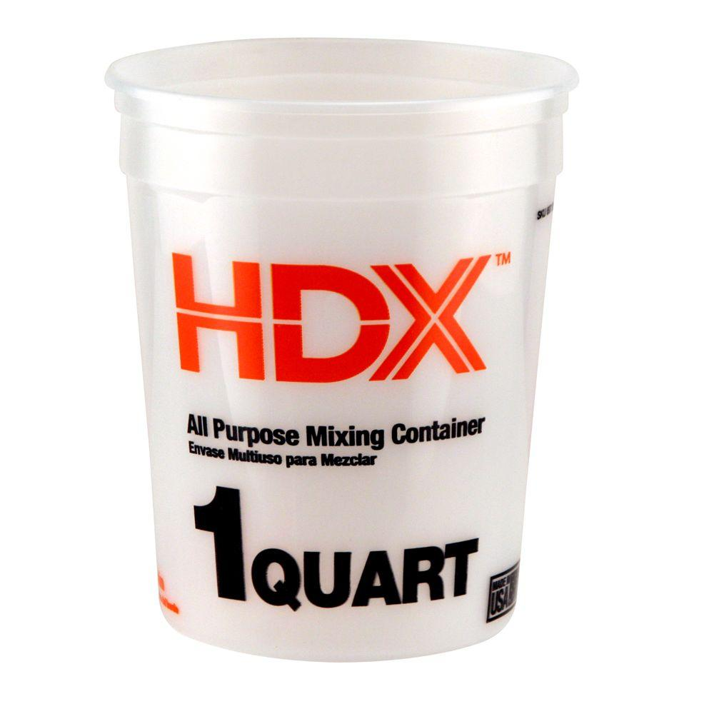 HDX 1 qt. Natural Multi-Mix Container (3-Pack)