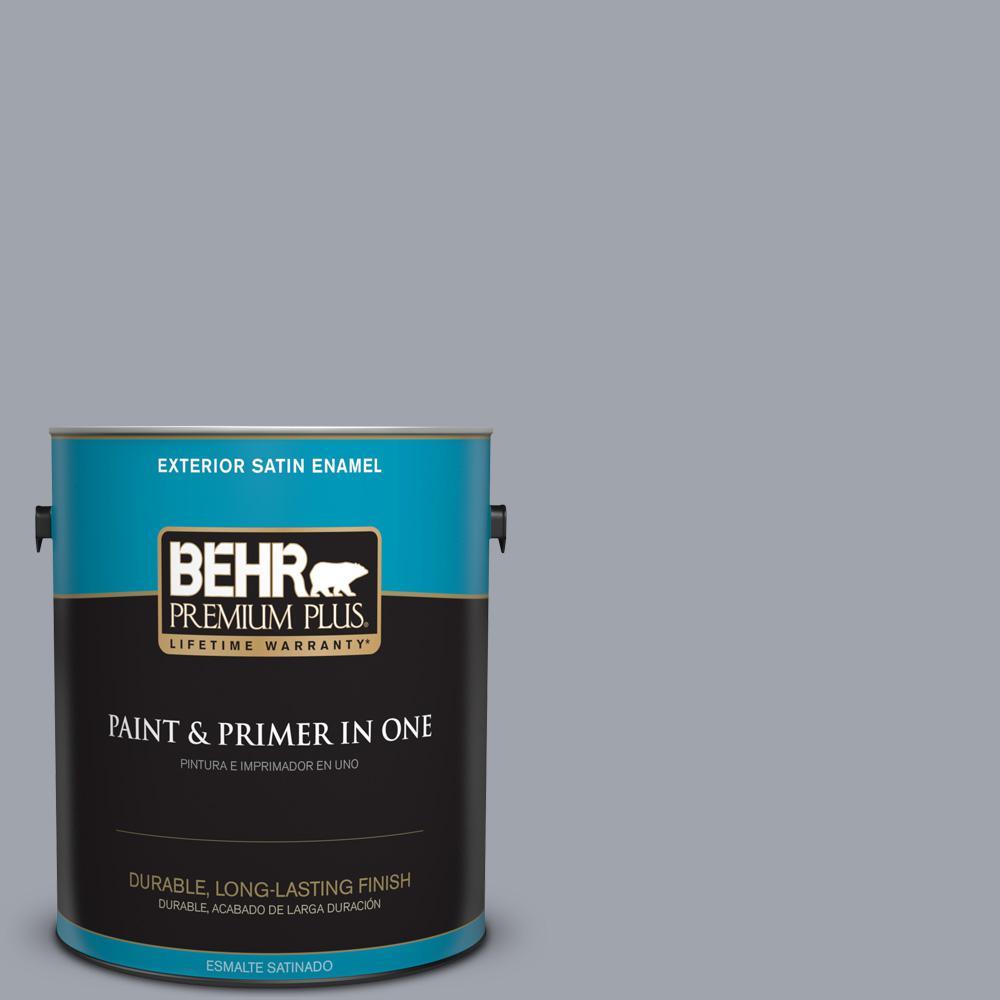 1 gal. #PPU26-19 Chance of Rain Satin Enamel Exterior Paint