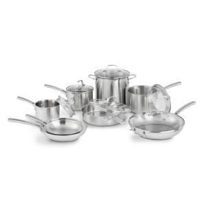 Calphalon Classic 14-Piece Stainless Steel Cookware Set by Calphalon