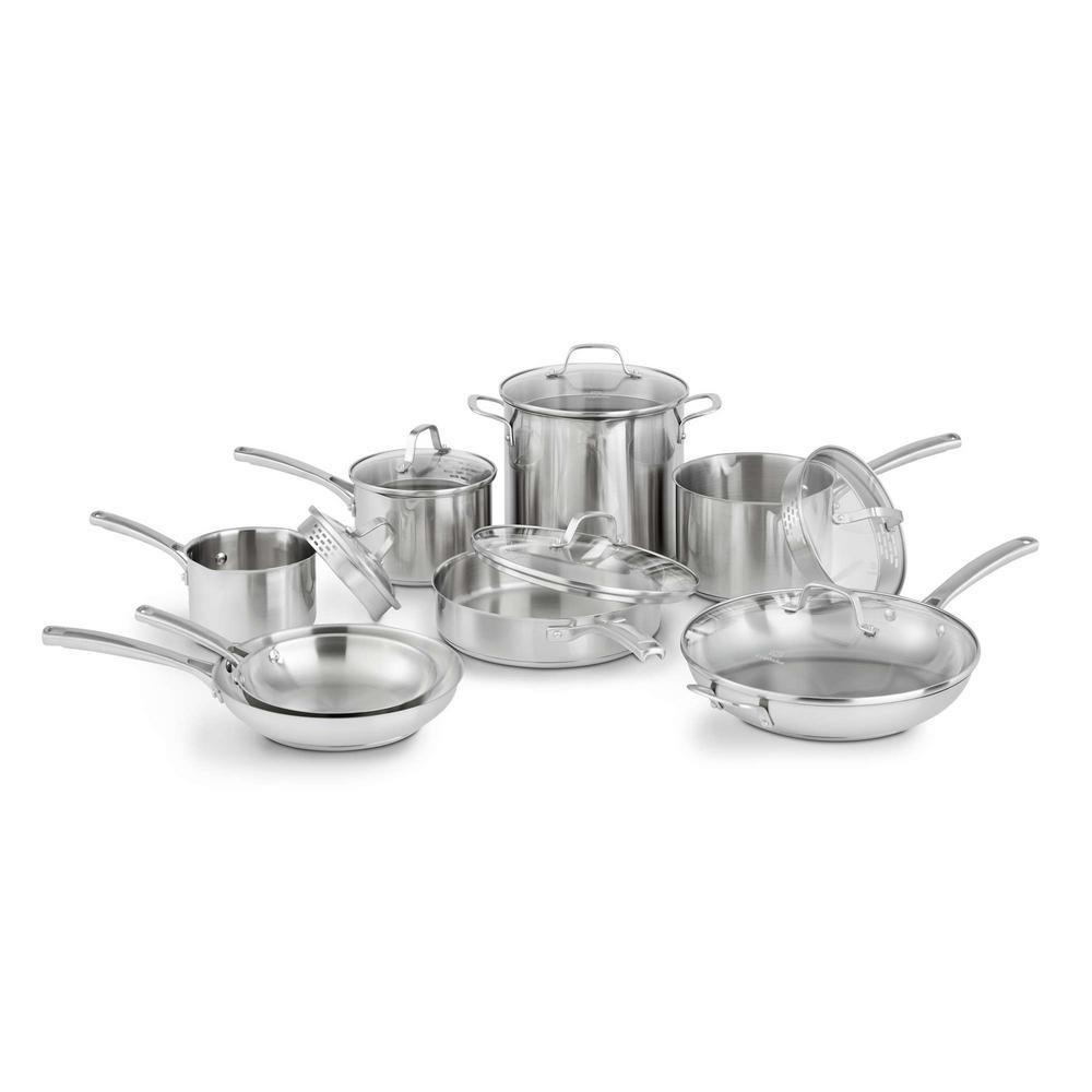 Calphalon Calphalon Classic 14-Piece Stainless Steel Cookware Set, Silver