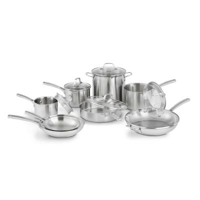 Classic 14-Piece Stainless Steel Cookware Set with Lids