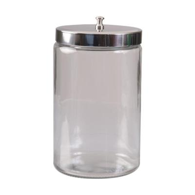 Unlabeled Glass Sundry Jar with Metal Lid