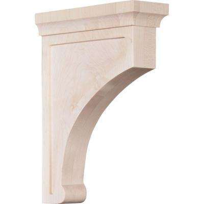 2-1/2 in. x 10 in. x 7 in. Rubberwood Large Gomez Bracket