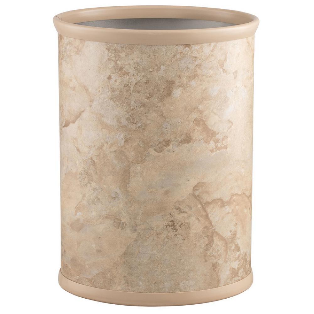 13 Qt. Sand Stone Oval Waste Basket