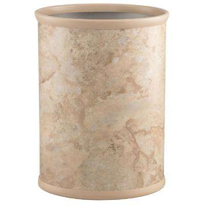 Quarry 13 Qt. Sand Stone Oval Waste Basket