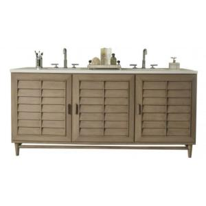 James Martin Signature Vanities Portland 72 inch W Double Vanity in Whitewashed Walnut with Quartz Vanity Top in White... by James Martin Signature Vanities