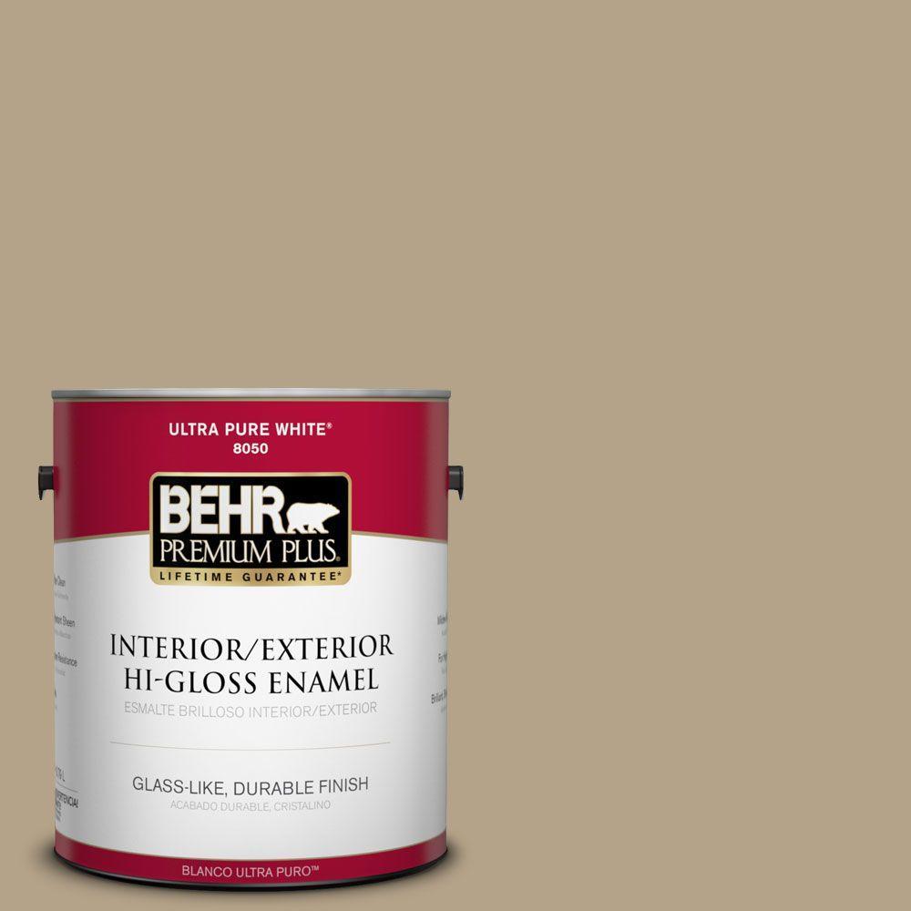 BEHR Premium Plus Home Decorators Collection 1-gal. #HDC-NT-12 Curly Willow Hi-Gloss Enamel Interior/Exterior Paint