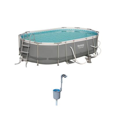 Power Steel 16 x 10 ft. Above Ground Pool Set with with Surface Skimmer