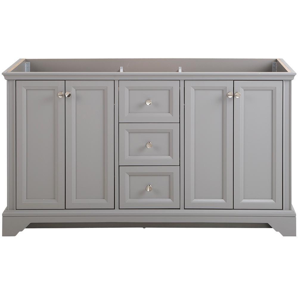 Stratfield 60 in. W x 21.69 in. D x 34.25 in. H Bath Vanity Cabinet Only in Sterling Gray