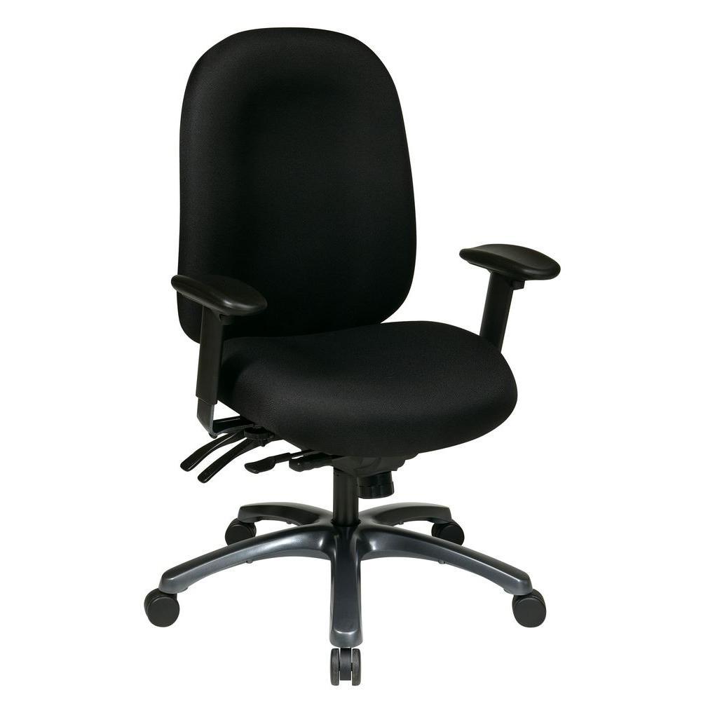 pro line ii black high back office chair 8511 231 the home depot. Black Bedroom Furniture Sets. Home Design Ideas