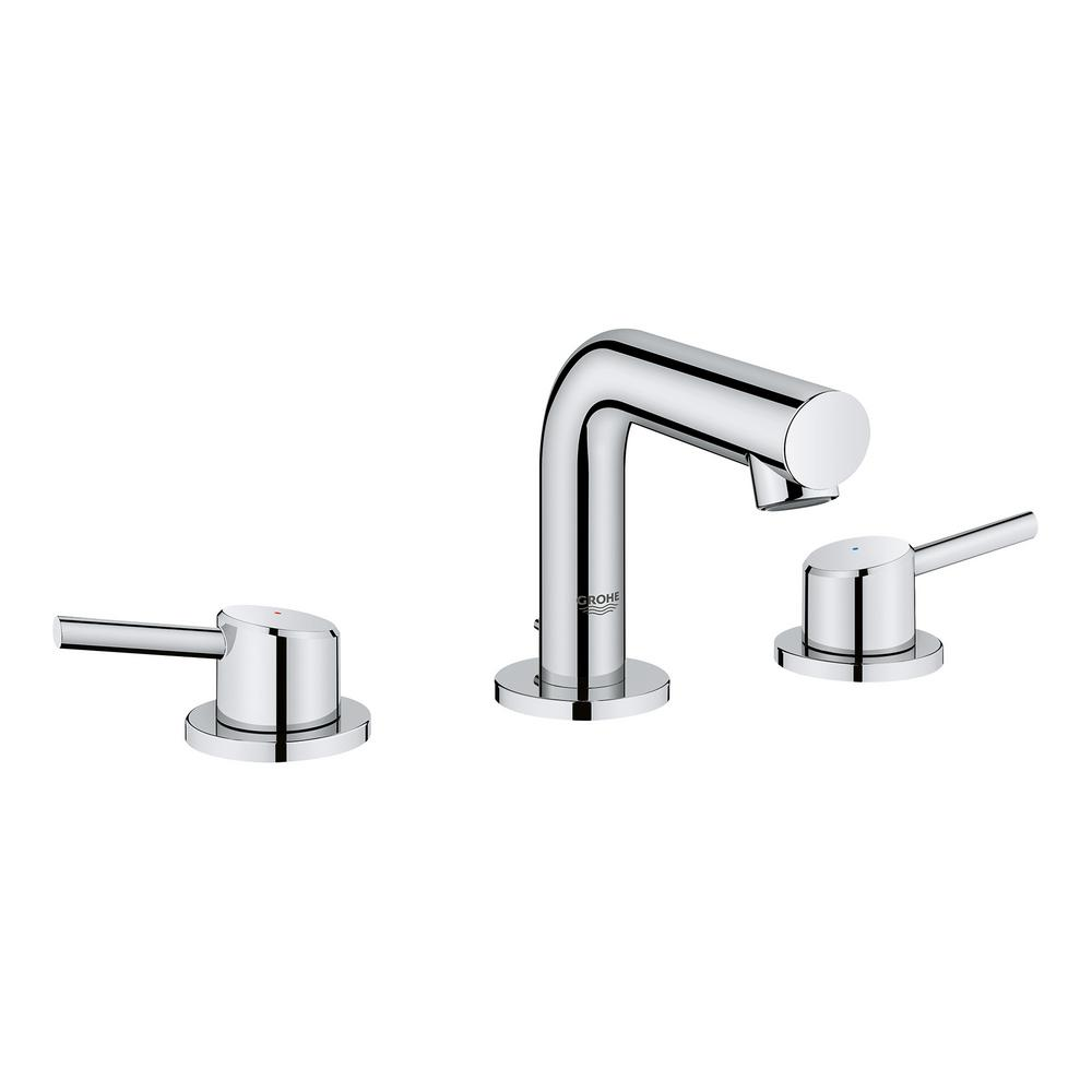 grohe bathroom sink faucets grohe concetto 8 in widespread 2 handle mid arc bathroom 18628
