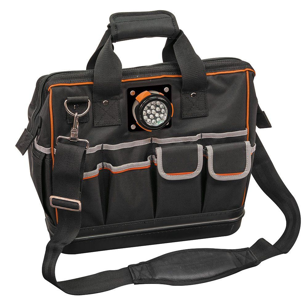 Klein Tools 15 1 4 In Tradesman Pro Organizer Lighted Tool Bag