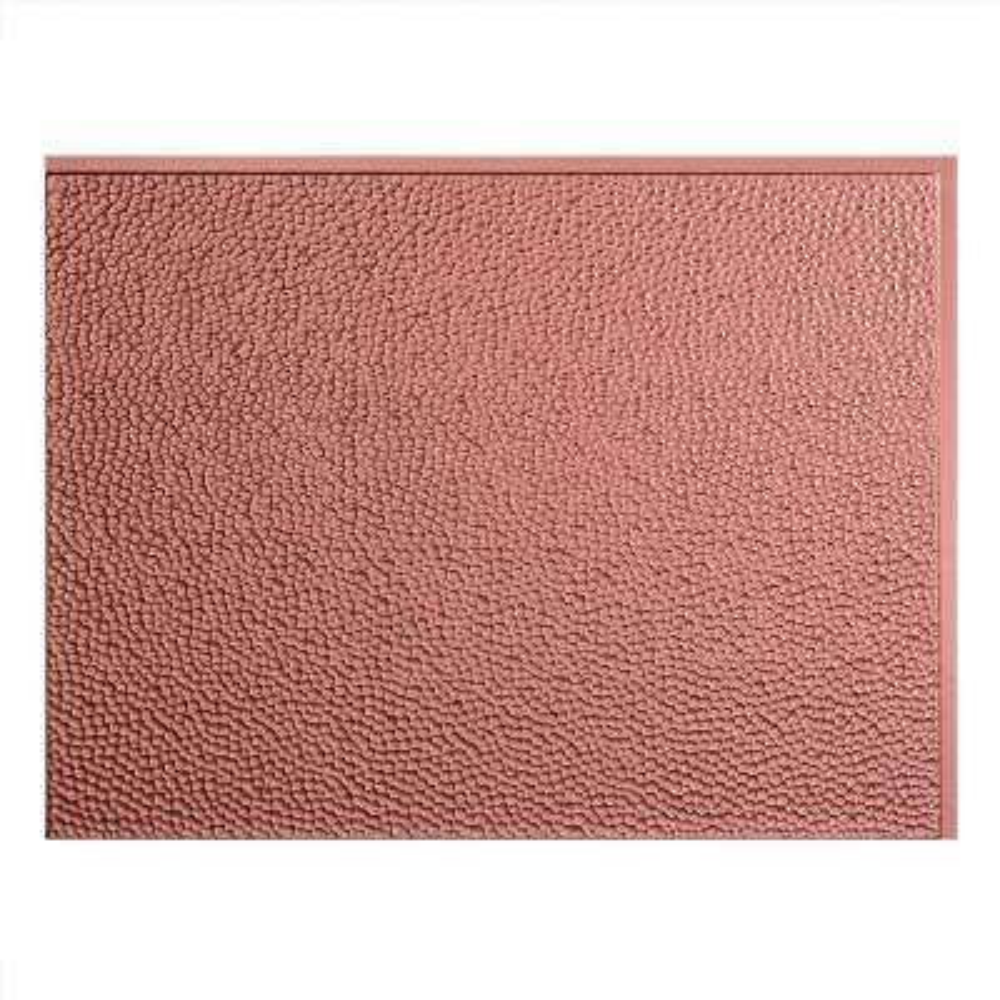 24 in. x 18 in. Hammered PVC Decorative Backsplash Panel in Argent Copper