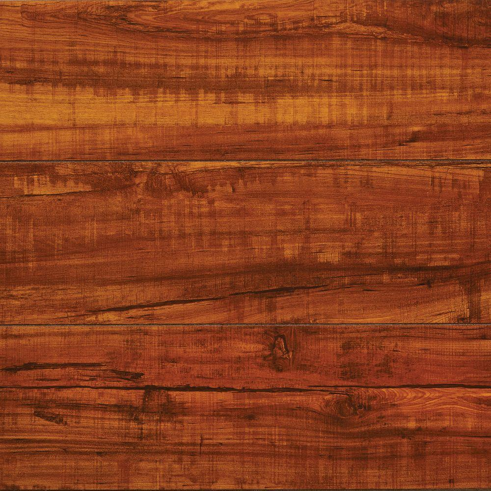 High Gloss Perry Hickory 8 mm Thick x 5 in. Wide x 47-3 & Laminate Wood Flooring - Laminate Flooring - The Home Depot