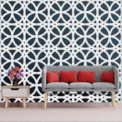 3/8 in. x 23-3/4 in. x 23-3/4 in. Large Daventry White Architectural Grade PVC Decorative Wall Panels