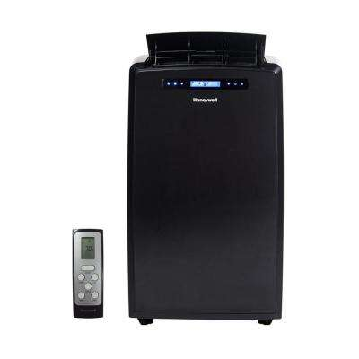14,000 BTU, 115-Volt Portable Air Conditioner with Dehumidifier and Remote Control in Black