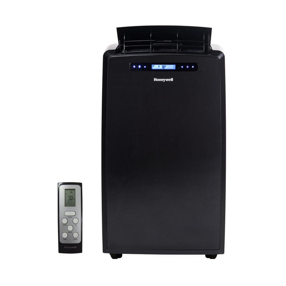 14,000 BTU Portable Air Conditioner with Dehumidifier and Remote Control - Black