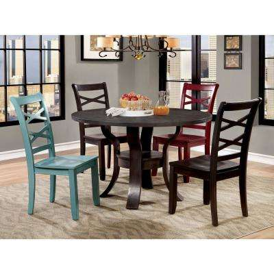 Gisela Espresso Transitional Style Round Dining Table