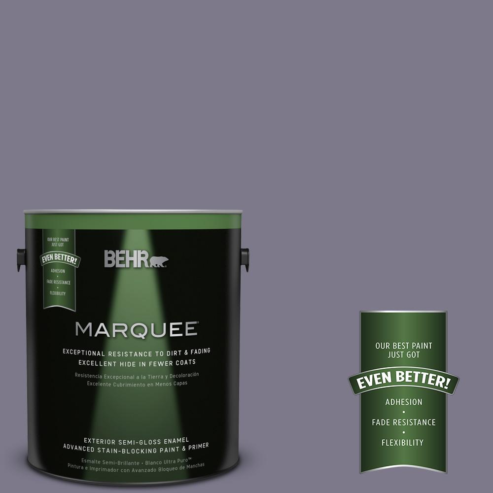BEHR MARQUEE 1-gal. #N560-5 Solitaire Semi-Gloss Enamel Exterior Paint