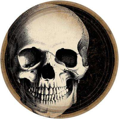 9 in. x 9 in. Halloween Skull Plate (60-Count )